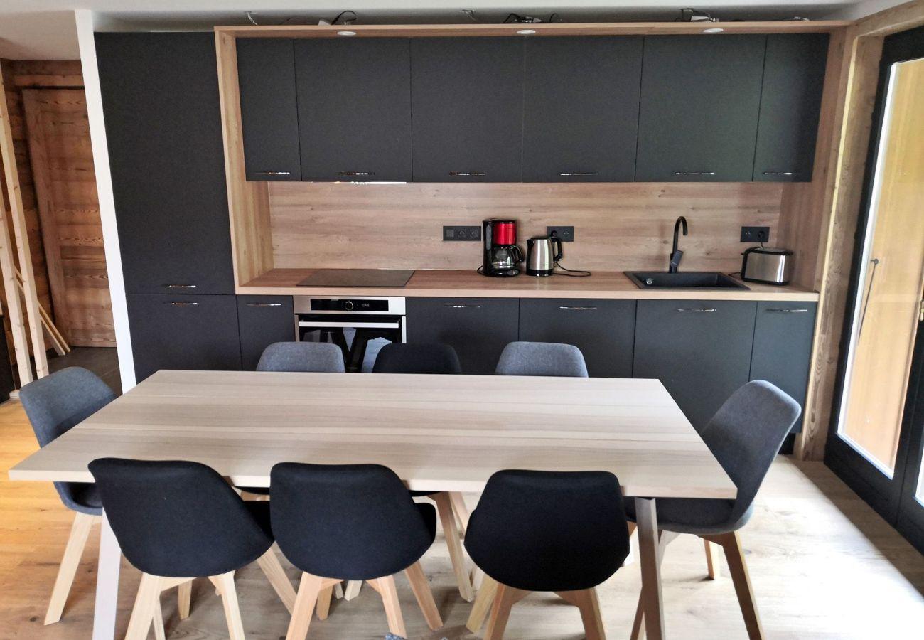 Appartement à Les Carroz d'Arâches - Les Carroz centre, location d'un grand appartement pour 8 personnes avec garage