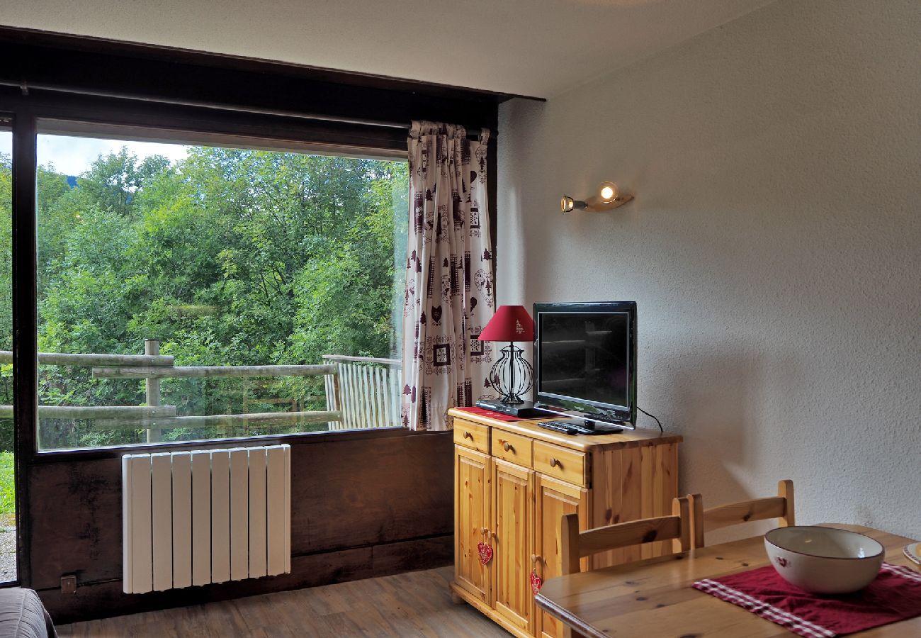 Studio à Les Carroz d'Arâches - Carroz d'Arâches, centre, location appartement de vacances pour 4 personnes - VAL587